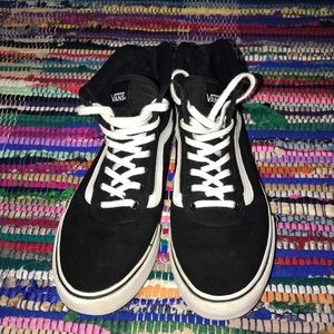 High top Vans black and white